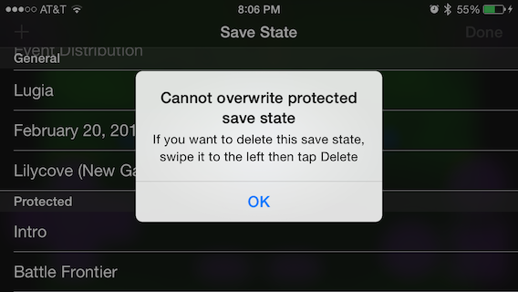 Protected Save State